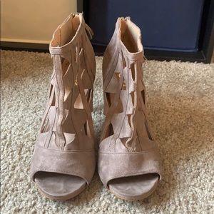 Brown Suede Heels - Women's Size 9.5